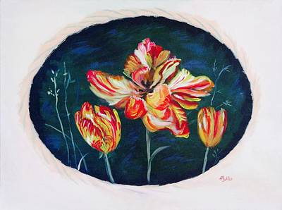 Painting - Tulips By Brush by Phyllis Kaltenbach