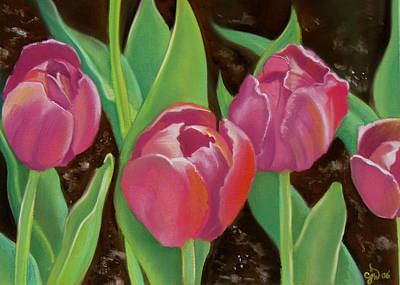 Tulips Art Print by Candice Wright