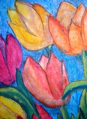Painting - Tulips by Carol Warner