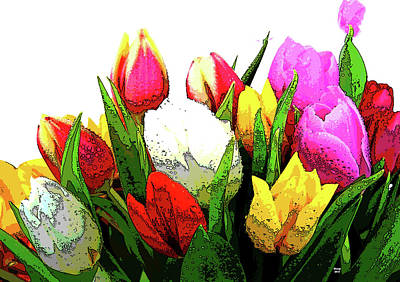 Mixed Media - Tulips by Charles Shoup