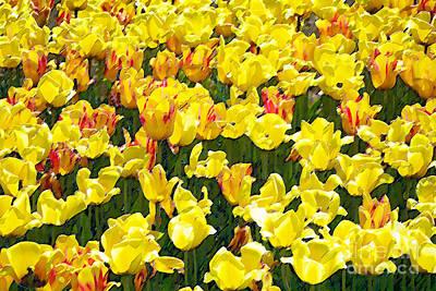 Digital Art - Tulips by David Blank