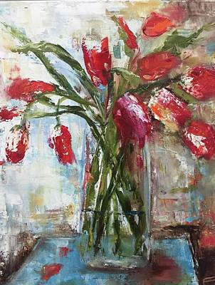 Painting - Tulips by Debbie Frame Weibler
