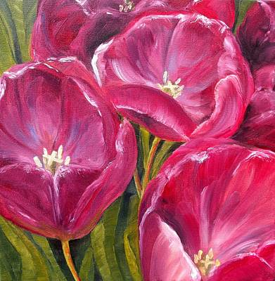 Tulips Art Print by Diane Daigle