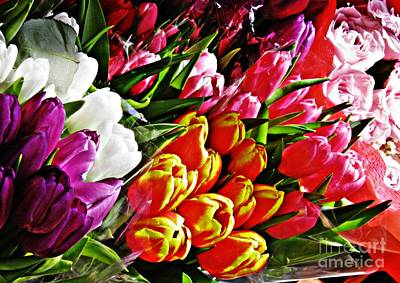 Photograph - Tulips For Sale by Sarah Loft