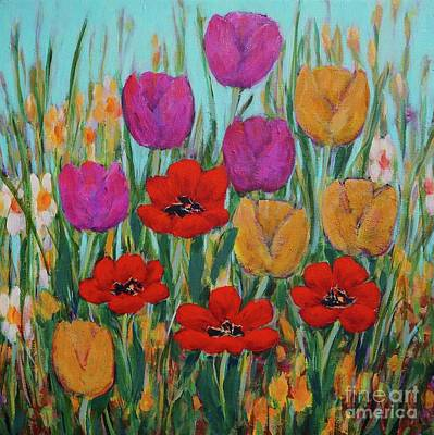 Painting - Tulips by Gail Kent