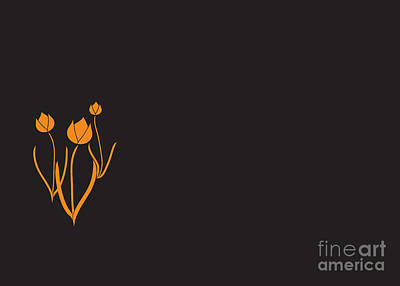 Digital Art - Tulips Graphic Illustration by Conni Schaftenaar
