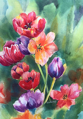 Painting - Tulips by Hilda Vandergriff