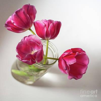 Tulips In A Jar Original by Chellie Bock