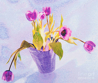 Photograph - Tulips In A Pot by Diane Macdonald