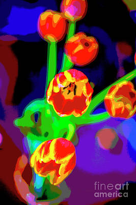Photograph - Tulips In Abstract by Greg Kopriva