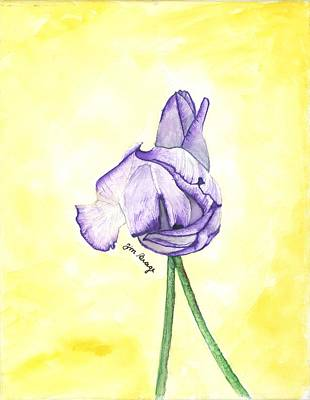 Painting - Tulips In Purple by Jim Brage