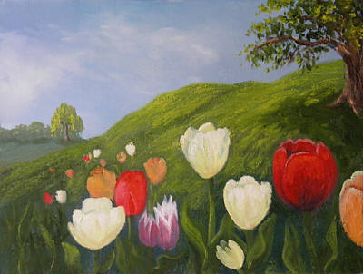 Painting - Tulips In Spring by Sharon Casavant