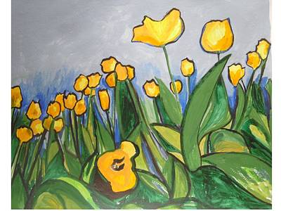 Painting - Tulips In Springtime by Esther Newman-Cohen