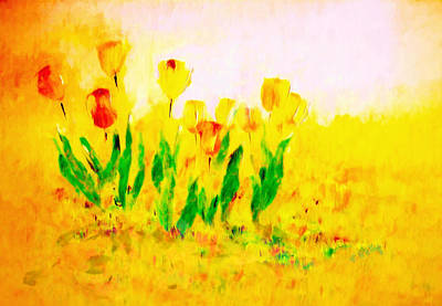 Painting - Tulips In Springtime by Valerie Anne Kelly