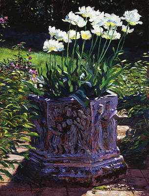 Spring Flowers Painting - Tulips In Stone by David Lloyd Glover