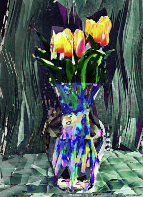 Digital Art - Tulips In Vase by David Pantuso