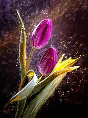 Painting - Tulips by James Shepherd