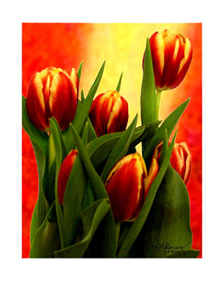 Colossal Mixed Media - Tulips Jgibney Signature  5-2-2010 Greenville Sc The Museum Zazzle For Faa20c by jGibney The MUSEUM Zazzle Gifts
