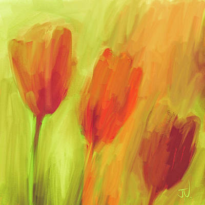 Digital Art - Tulips by Jim Vance