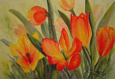 Painting - Tulips by Joanne Smoley