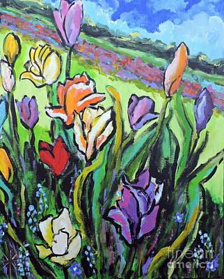 Painting - Tulips by Jodie Marie Anne Richardson Traugott          aka jm-ART