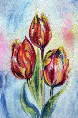 Painting - Tulips - Joy by Harsh Malik