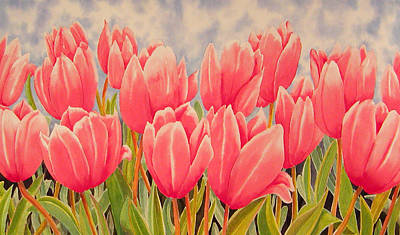 Florals Royalty-Free and Rights-Managed Images - Tulips by Karen Wright