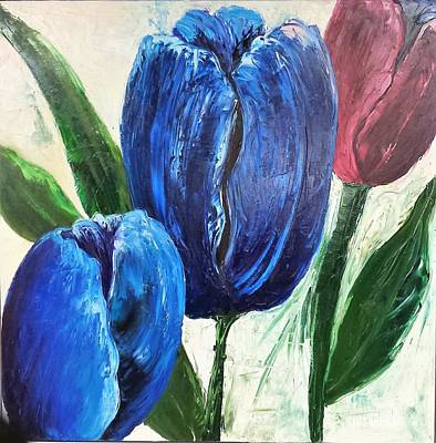 Painting - Tulips Large Oil Flowers by Barbara Haviland