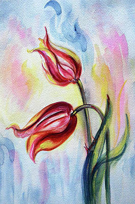 Painting - Tulips - Love by Harsh Malik