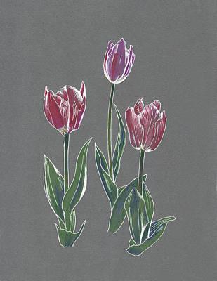 Drawing - Tulips by Masha Batkova
