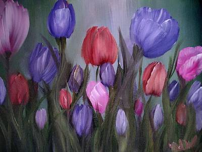 Painting - Tulips by Natascha de la Court