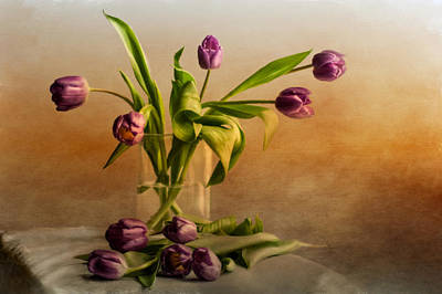 Spring Tulips Photograph - Tulips On A Table  by Maggie Terlecki