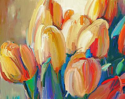 Digital Art - Tulips Paint by Yury Malkov