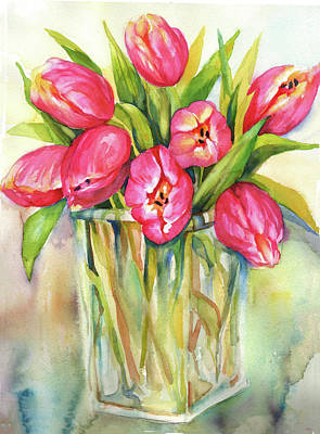 Painting - Tulips by Peggy Wilson