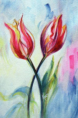 Painting - Tulips - Pleasure  by Harsh Malik