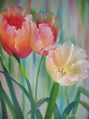 Tulips Art Print by Sherry Winkler