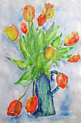 Painting - Tulips Still Life by Jasna Dragun