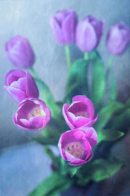 Photograph - Tulips Study #1 by Elvira Pinkhas