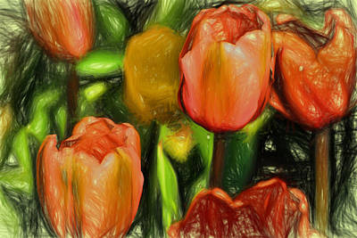 Digital Art - Tulips  by Terry Cork