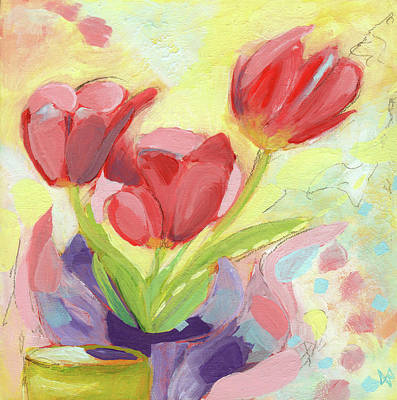 Wall Art - Painting - Tulips Three by Ann Thompson Nemcosky