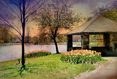 Photograph - Tulips To Gazebo by Diana Angstadt