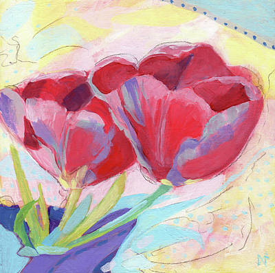 Wall Art - Painting - Tulips Two by Ann Thompson Nemcosky
