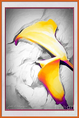 Mixed Media - Lilies Lily by John A Rodriguez