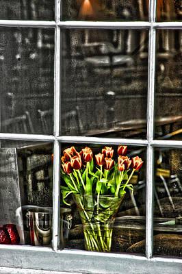 Amsterdam Digital Art - Tulips Window by Marco Moscadelli