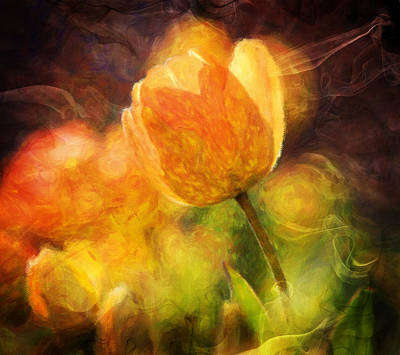 Tulips With A Moderntwist Art Print