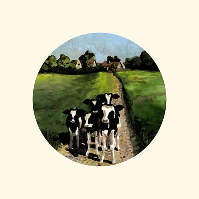 Painting - Tullamore Calves by Deborah Runham