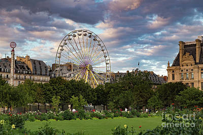 Photograph - Tullieries Garden Paris Sunset by Alissa Beth Photography