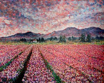 Wa Painting - Tullip Field. by Georges St Pierre
