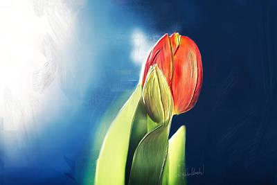 Painting - Tulpe-einzeln.. by Jacqueline Schreiber