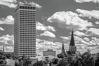 Tulsa Oklahoma. Architecture Photograph - Tulsa City Architecture In Black And White by Gregory Ballos